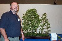 John Oldland and award winning Bonsai